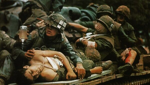 Hình ảnh đẫm máu của binh lính Mỹ - Sputnik Việt Nam