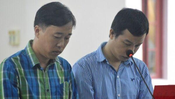 Hai bị cáo Linh, Thế tại tòa - Sputnik Việt Nam