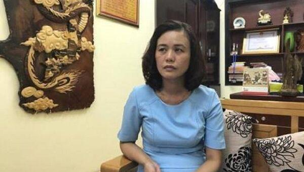 Bà Hà - người bị tố có thái độ không đúng với dân. - Sputnik Việt Nam