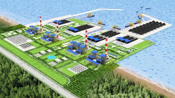 Phối cảnh dự án nhà máy nhiệt điện Vĩnh Tân 4 - Sputnik Việt Nam