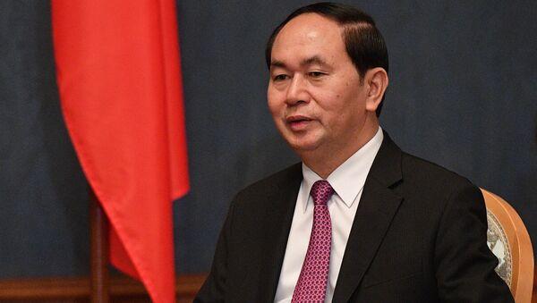 Chủ tịch CHXHCN Việt Nam Trần Đại Quang ở Matxcơva. - Sputnik Việt Nam