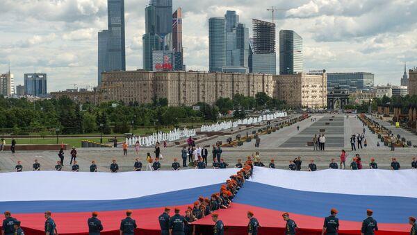 Nghi lễ khai trương lá cờ Nga lớn nhất - Sputnik Việt Nam