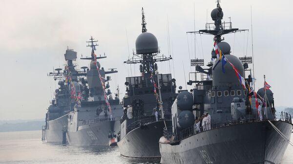 Cuộc diễu binh nhân Ngày Hải quân Liên bang Nga - Sputnik Việt Nam