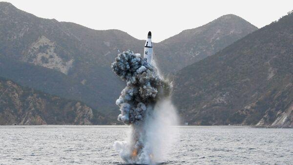 Vụ phóng tên lửa từ tàu ngầm - Sputnik Việt Nam