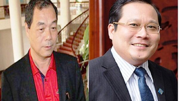 Ông Trầm Bê (trái) và ông Phan Huy Khang - Sputnik Việt Nam
