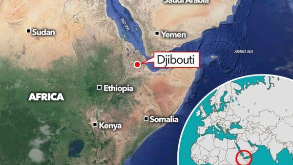Vị trí nước Cộng hòa Djibouti.trên khu vực Đông Phi - Sputnik Việt Nam
