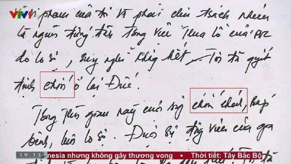 Lá đơn tự thú của ông Thanh viết đầy lỗi chính tả gây bất ngờ trên mạng xã hội. - Sputnik Việt Nam