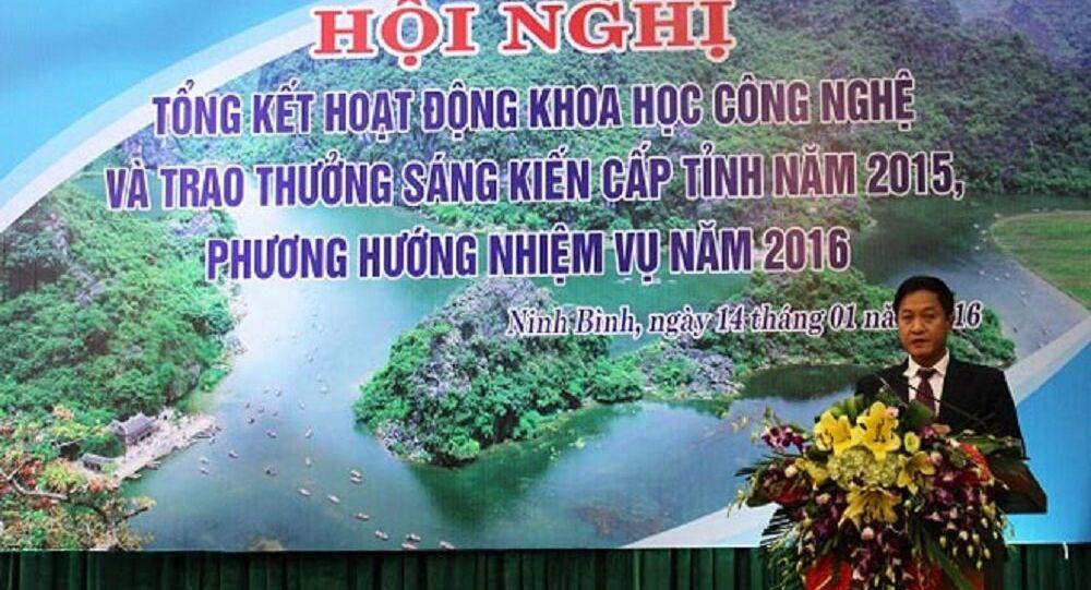 Ông Vũ Đức Dũng, Giám đốc Sở KH & CN tỉnh Ninh Bình