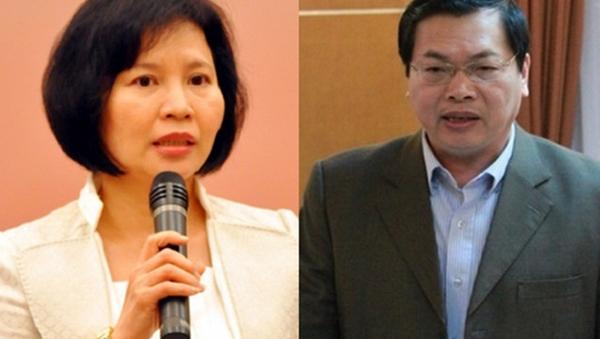 Thứ trưởng Hồ Thị Kim Thoa và ông Vũ Huy Hoàng. - Sputnik Việt Nam