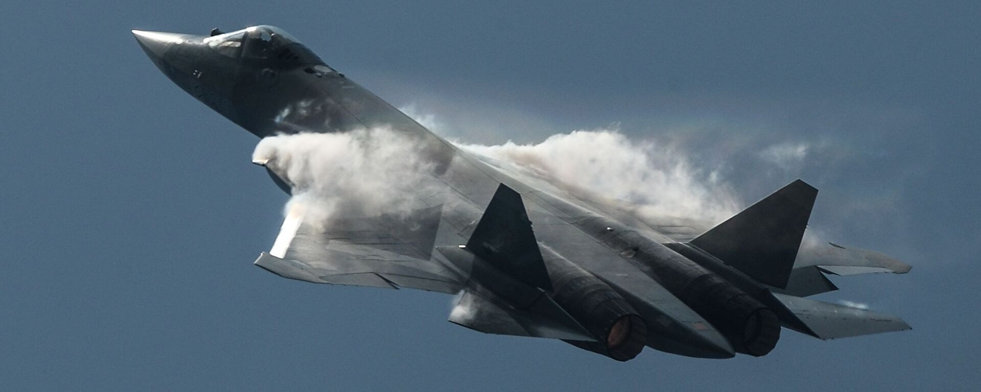 Máy bay chiến đấu thế hệ thứ năm T-50 (Su-57). Chuyến bay trình diễn. - Sputnik Việt Nam, 1920, 04.11.2017