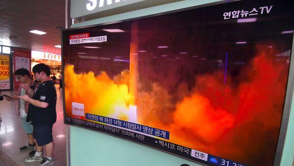 Tin tức Bắc Triều Tiên phóng tên lửa đạn đạo trong nhà ga Seoul - Sputnik Việt Nam