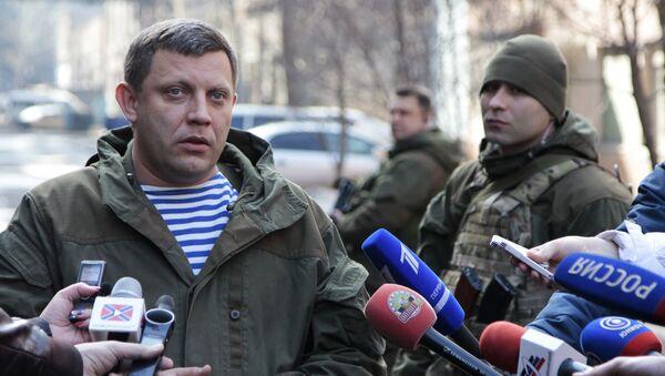 Người đứng đầu nước Cộng hòa Nhân dân Donetsk tự tuyên bố, Alexandr Zakharchenko - Sputnik Việt Nam