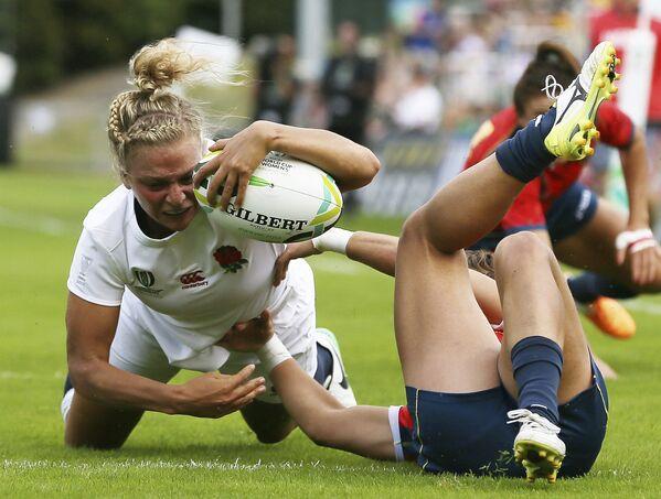 Ireland, Dublin. Trận đấu giữa đội nữ Anh và đội nữ Tây Ban Nha trong Rugby World Cup - Sputnik Việt Nam