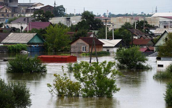 Trong khu vực Primorsky của LB Nga đang có lũ. Thành phố Ussuriysk bị ngập lụt. - Sputnik Việt Nam