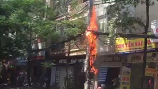 Cột điện cháy - Sputnik Việt Nam