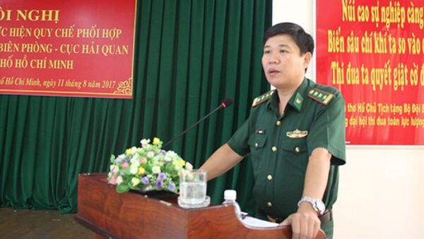 Thượng tá Trần Thanh Đức, Phó chỉ huy trưởng Bộ chỉ huy Bộ đội Biên phòng TPHCM. - Sputnik Việt Nam