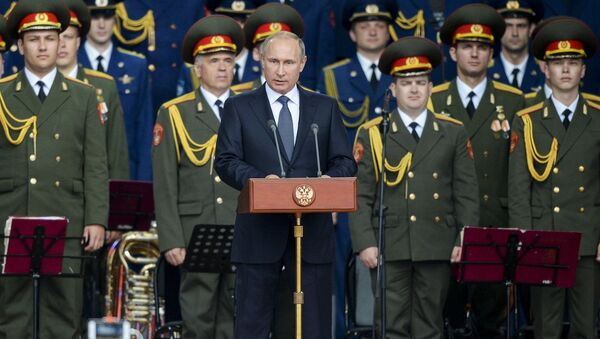 Tổng thống Nga Putin tham dự khai mạc Diễn đàn quốc tế Quân đội-2015 - Sputnik Việt Nam