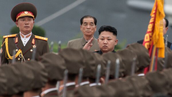 Quân đội của Bắc Triều Tiên với Kim Jong-un - Sputnik Việt Nam