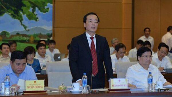 Bộ trưởng Phạm Hồng Hà trả lời tại phiên họp Uỷ ban Thường vụ Quốc hội - Sputnik Việt Nam