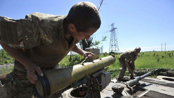 Quân nhân Ukraina ở Gorlovka - Sputnik Việt Nam