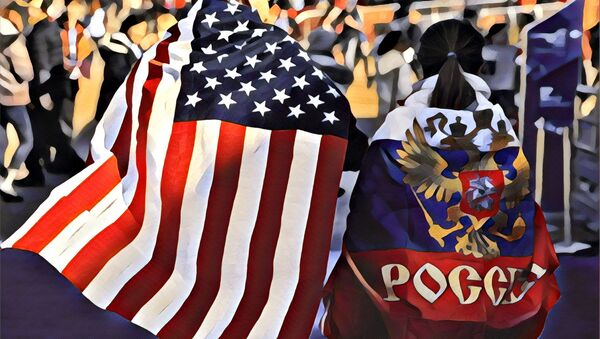 Cờ Hoa Kỳ và Liên bang Nga - Sputnik Việt Nam