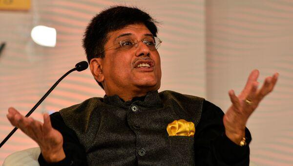 Bộ trưởng Năng lượng Ấn Độ Piyush Goyal - Sputnik Việt Nam