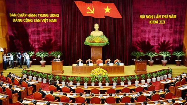 Một phiên họp của Ban chấp hành Trung ương Đảng tại Hội nghị lần thứ năm, khóa XII - Sputnik Việt Nam