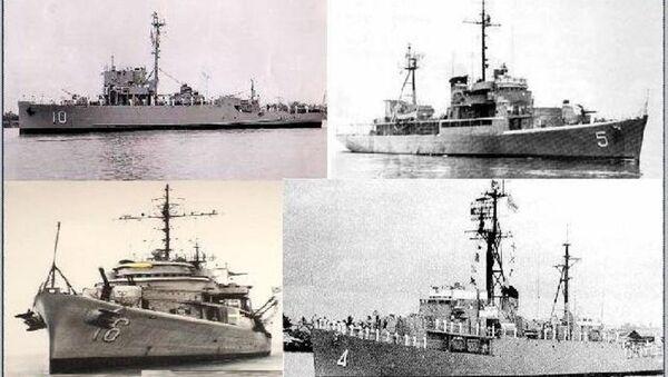 Bốn chiến hạm của hải quân Việt Nam cộng hòa tham dự trận hải chiến Hoàng Sa năm 1974 - Sputnik Việt Nam