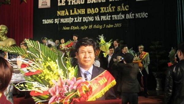 Ông Nguyễn Quyết Thắng được xác định là đã sử dụng kinh phí nhà trường để mua danh hiệu tự vinh danh bản thân. Ảnh trên website Trường cao đẳng nghề Quảng Nam - Sputnik Việt Nam