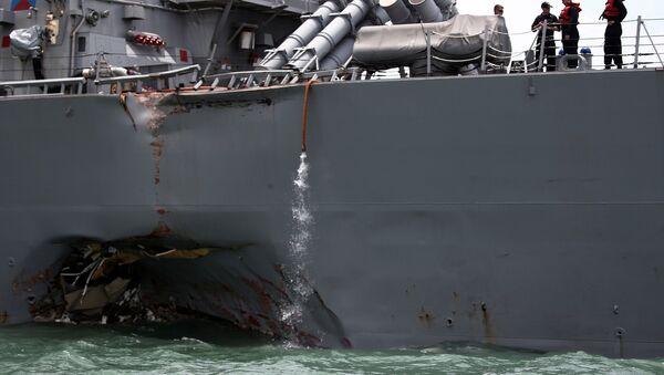 Vụ tai nạn tàu khu trục John McCain - Sputnik Việt Nam