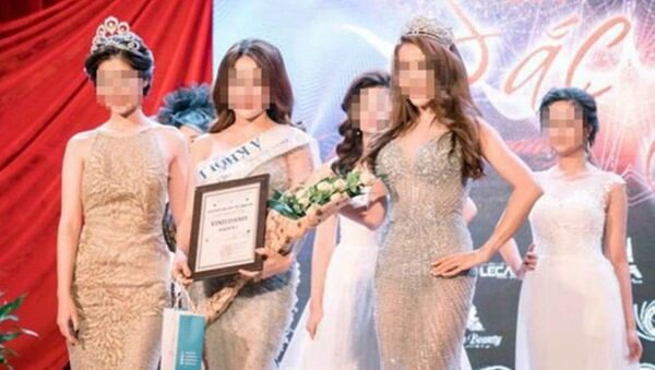 Hiền và Ngọc tại một cuộc thi sắc đẹp năm 2017. - Sputnik Việt Nam