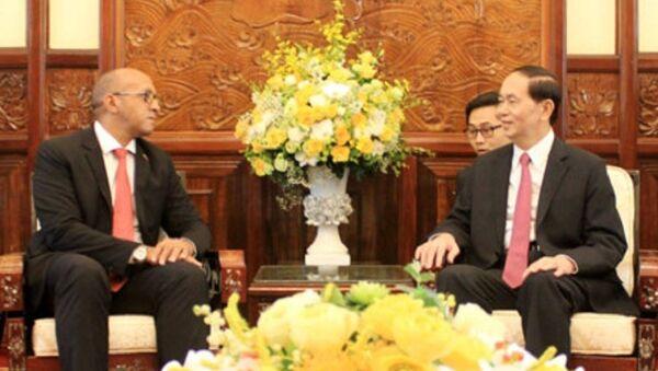 Chủ tịch nước chuyển lời chào và lời chúc sức khỏe tới Chủ tịch Raul Castro và các vị Lãnh đạo Đảng và Nhà nước Cuba. - Sputnik Việt Nam
