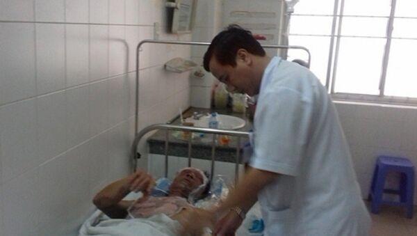 Một nạn nhân bị nặng đã chuyển lên BV tuyến trên, 7 nạn nhân còn lại đang được điều trị tại BVĐKTƯ Cần Thơ. - Sputnik Việt Nam