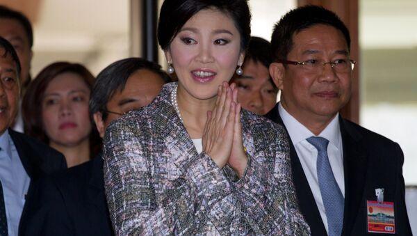 Thailand's former Prime Minister Yingluck Shinawatra arrives at parliament in Bangkok, Thailand Thursday, Jan. 22, 2015 - Sputnik Việt Nam