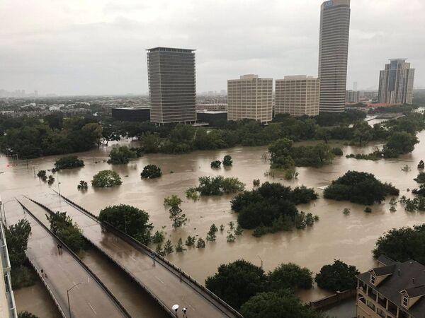 Trung tâm Houston sau bão Harvey... - Sputnik Việt Nam