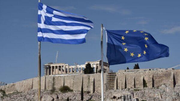 Quốc kỳ Hy Lạp và EU - Sputnik Việt Nam