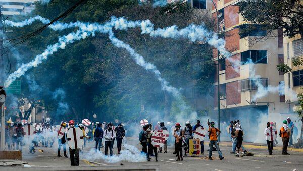 Những người biểu tình tại Caracas - Sputnik Việt Nam