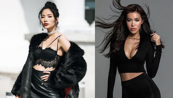 Hoàng Thùy chính thức bước vào 'đường đua' Hoa hậu Hoàn vũ Việt Nam 2017 nhưng Minh Tú đã bỏ cuộc - Sputnik Việt Nam