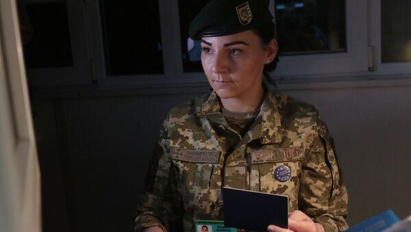Một nhân viên của Cơ quan Biên phòng Ukraine - Sputnik Việt Nam
