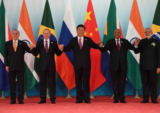 Các nhà lãnh đạo BRICS tại Hội nghị thượng đỉnh lần thứ 9 của nhóm BRICS