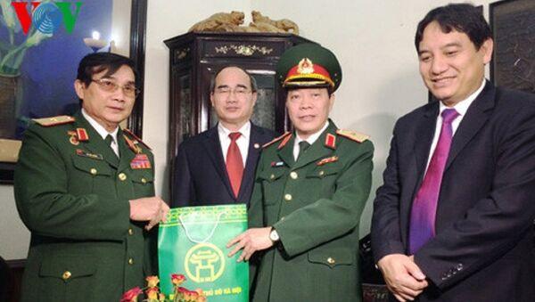 Thăm, chúc mừng Thiếu tướng Anh hùng lực lượng vũ trang Lê Mã Lương - Sputnik Việt Nam