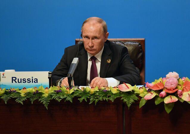 Tổng thống LB Nga Vladimir Putin tại Hội nghị thượng đỉnh lần thứ 9 của nhóm BRICS