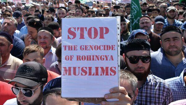 Mit-tinh ở Groznyi nhằm ủng hộ người Rohingya Hồi giáo - Sputnik Việt Nam
