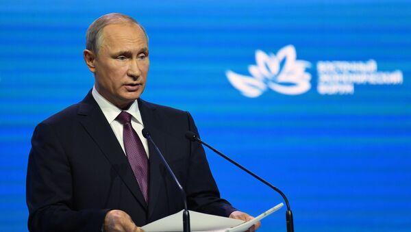 Vladimir Putin trong khuôn khổ của Diễn đàn Kinh tế Đông (WEF) - Sputnik Việt Nam