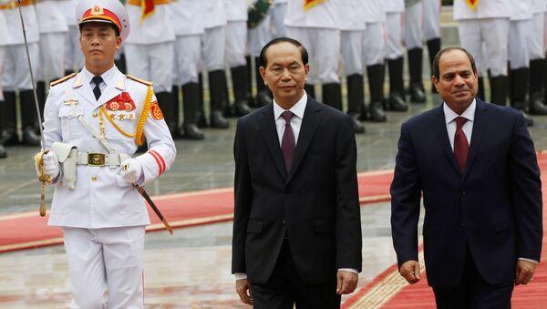 Президент Египта Абдель Фаттах ас-Сиси и президент Вьетнама Чан Дай Куанг в Ханое - Sputnik Việt Nam