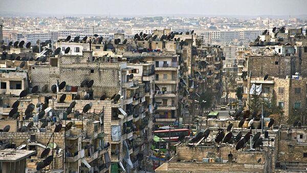 Разрушенный жилой квартал Алеппо, Сирия - Sputnik Việt Nam