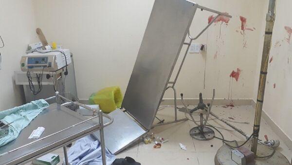 Nhiều vật dụng tại Bệnh viện Quân y K120 bị hư hỏng sau tiếng súng nổ - Sputnik Việt Nam