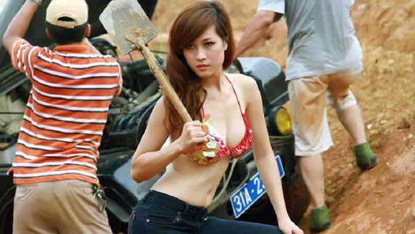 Cô gái bên xe hơi - Sputnik Việt Nam