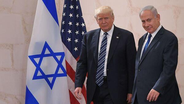 Tổng thống Hoa Kỳ Donald Trump với Thủ tướng Israel Benjamin Netanyahu - Sputnik Việt Nam