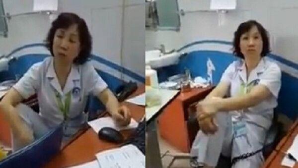 Bác sĩ gác chân lên ghế - Sputnik Việt Nam